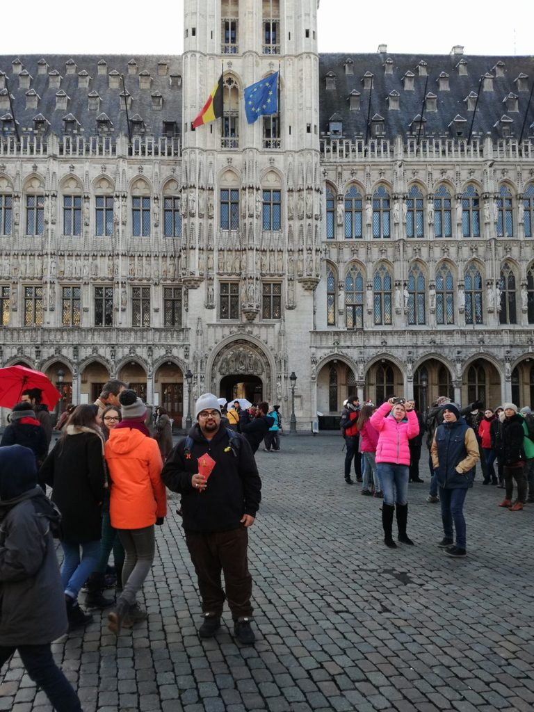 Asad Haroon Backpacking in Brussels