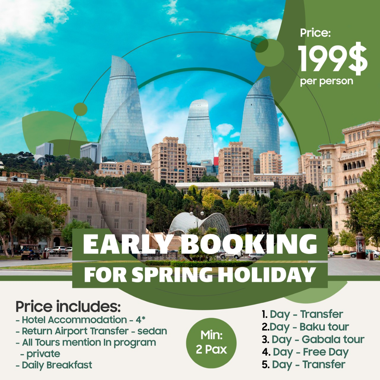 Baku Tour Package 2020 for 5 days