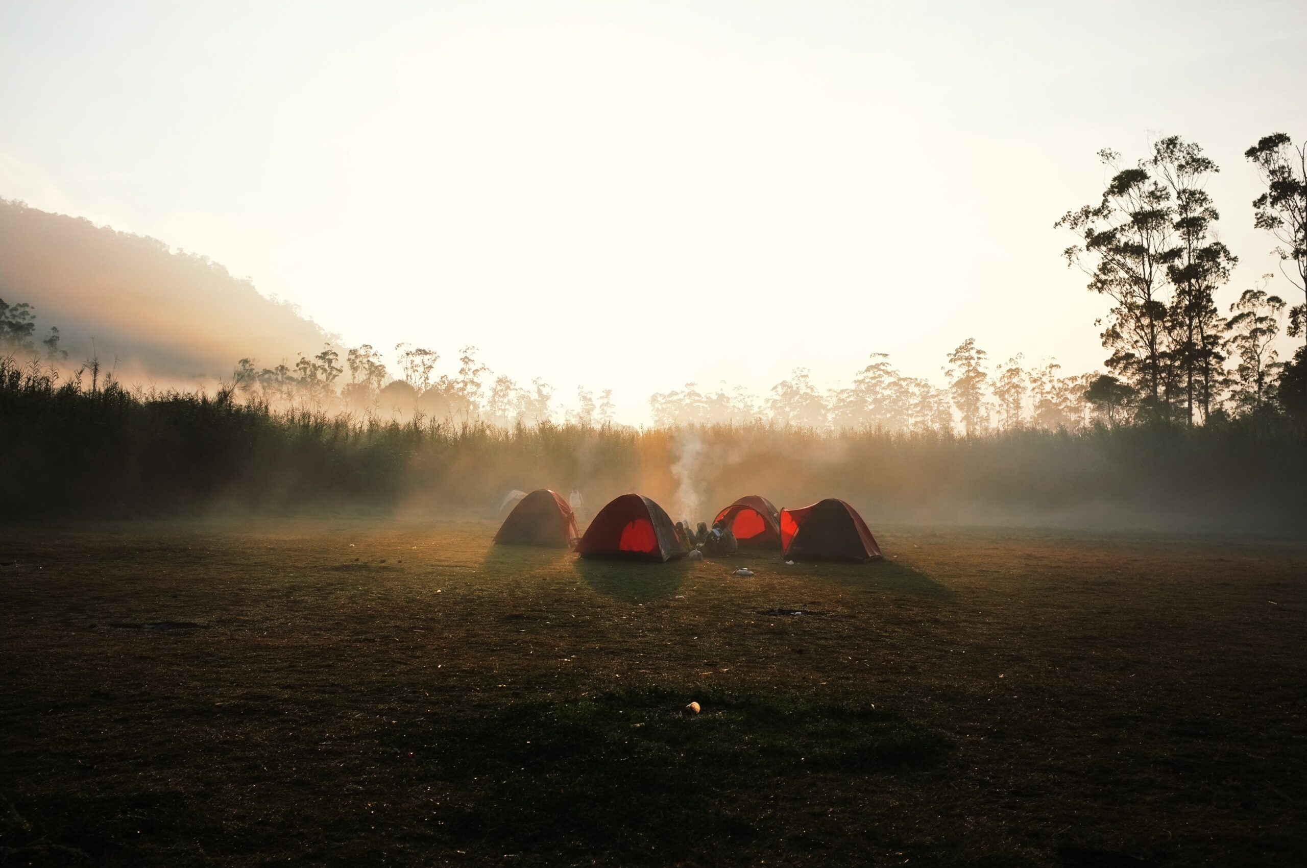 Camping in Java, Indonesia